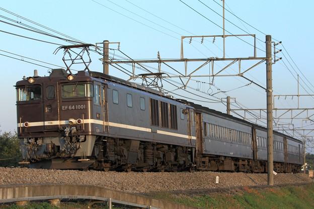 Photos: 回9891レ EF64 1001+旧型客車 3両