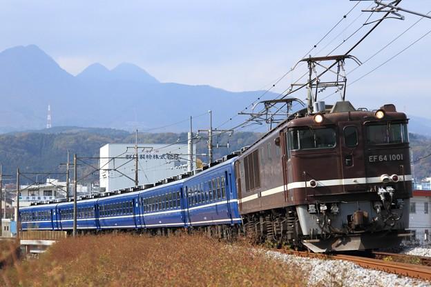 Photos: 回9733レ EF64 1001+12系 5両