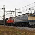 Photos: 配9840レ EF65 501+DD51 842+旧型客車 5両