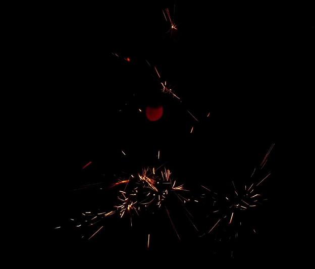 写真: 端っこつまむと線香花火