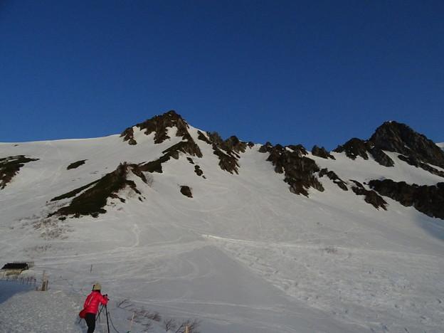 雪山を撮る人