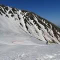 写真: 雪渓