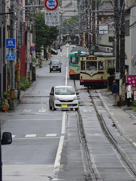 写真: 電車道