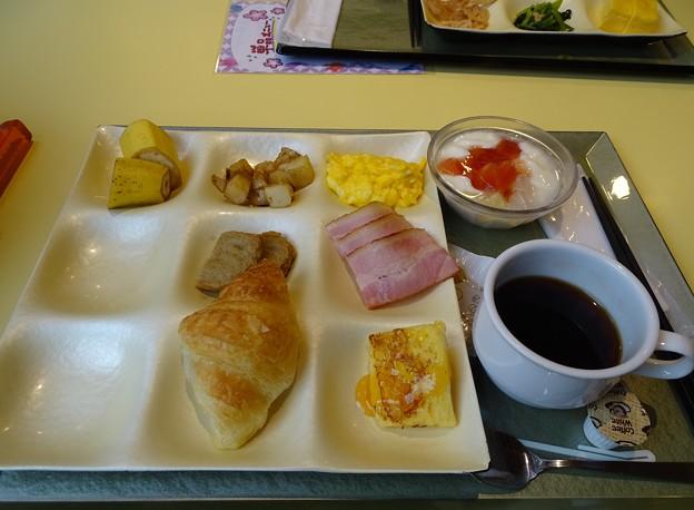 奥道後で朝食を