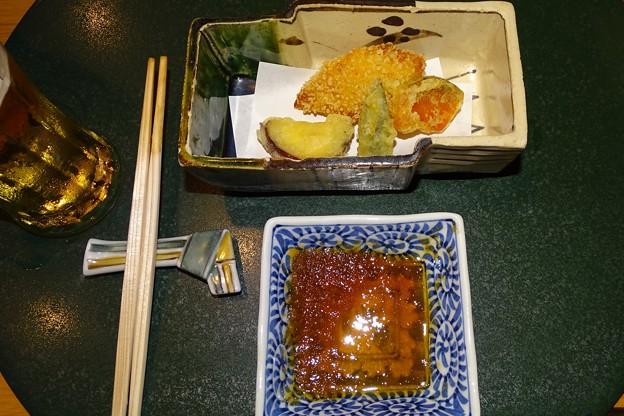 旬魚の玄米揚げ