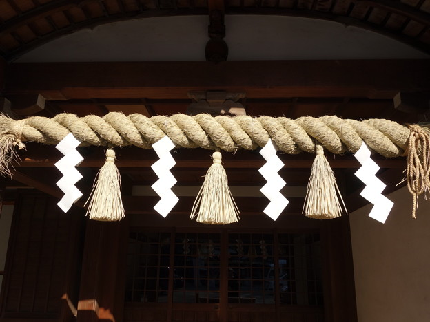 社務所の注連縄-静岡浅間神社 (静岡市葵区宮ケ崎町)