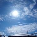 雪上がりの太陽
