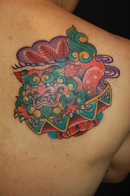 シーサーのタトゥー Okinawa's Traditional Amulet Tattoo