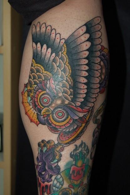 フクロウのタトゥー Owl Tattoo