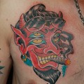 Photos: 四つ目のデビルのタトゥー four eyes devil tattoo