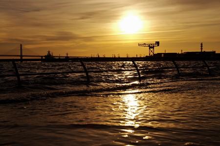 大潮の朝。