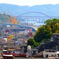 Photos: 呉市警固屋1丁目から第二音戸大橋と音戸大橋