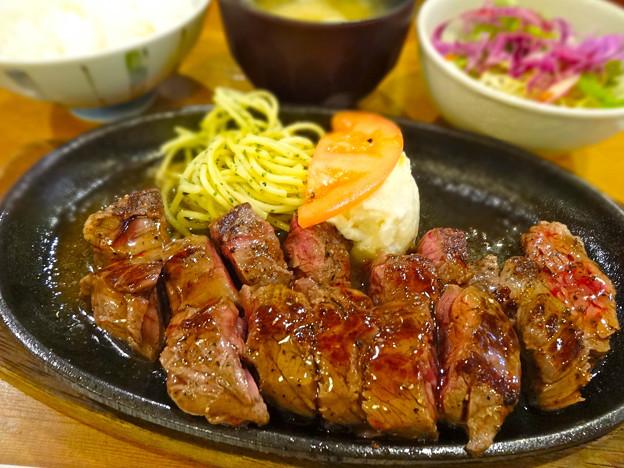 鉄板焼き ステーキ すき焼き とみや 日替ステーキランチ 広島市中区袋町