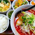 てんしん中華店 日替ランチ 紅いラーメン定食 広島市南区的場町 Tianjin
