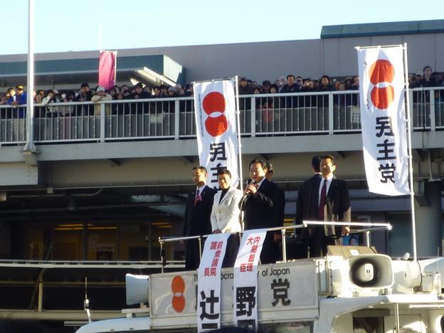 野田佳彦首相、高槻へ