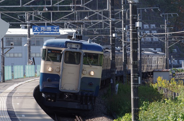 115系300番台M40編成 団体列車