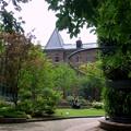 中庭から眺める美術館