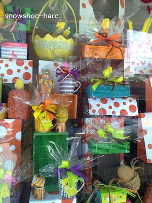 チョコレート屋のショーウィンドウ