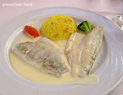 魚のフィレ・アニスソース