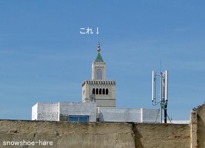 モスクの塔が見えるけど・・・