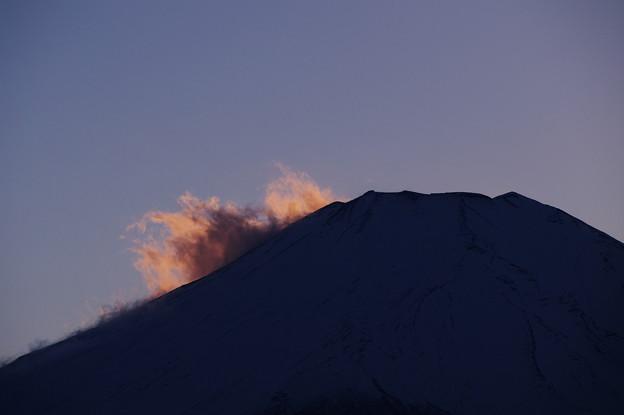 富士山の吹雪