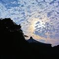 写真: 武道館の雲