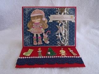 JPAスタンプでクリスマスカード1