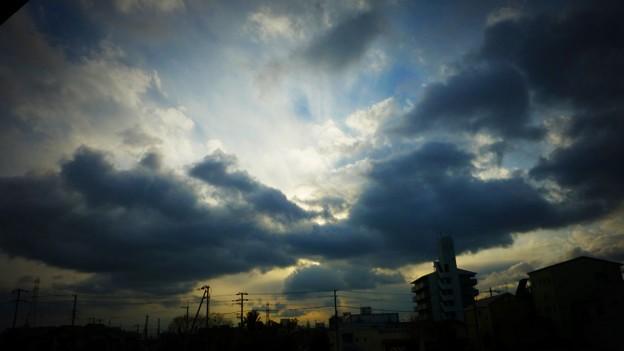 今日の夕方の空2