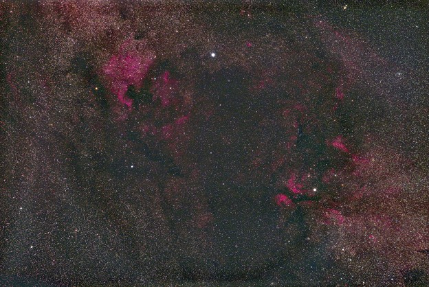 【再処理】光害地で撮るシリーズ No.5 - 北アメリカ星雲~サドル付近