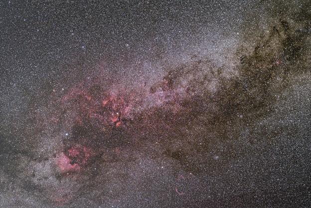オルゴール赤道儀で撮る天体 ― はくちょう座中心部 ≪再処理≫