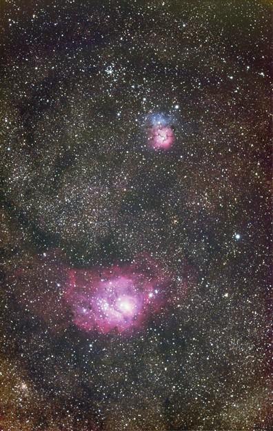 光害地で撮るシリーズNo.9 - M20・M8