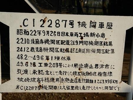 C12-287機関車歴(小櫃駅)