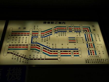 富山地鉄停車駅案内