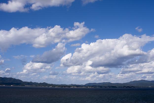 宍道湖の初秋の空