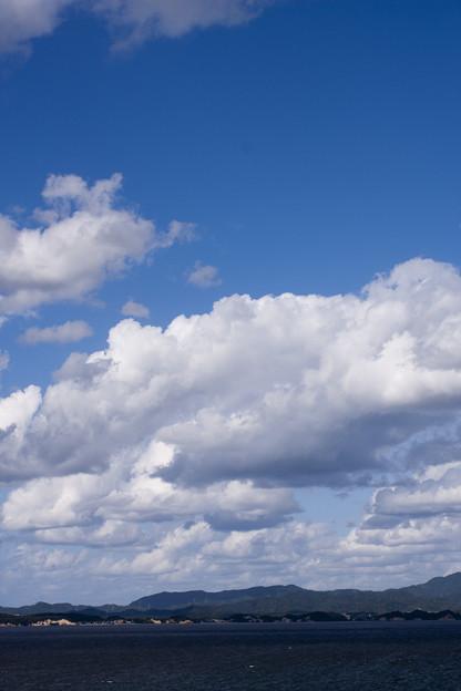 宍道湖には青が似合う