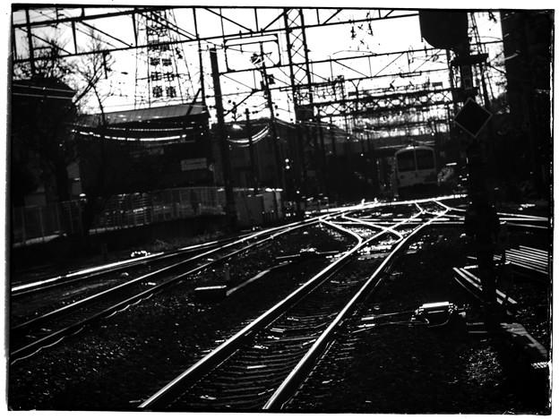 西武多摩川線にて