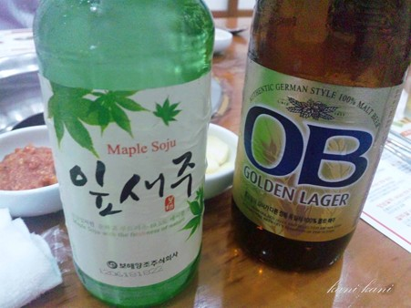 韓国ビールと焼酎