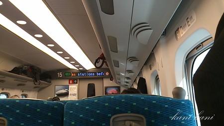 東海道新幹線のぞみ車内
