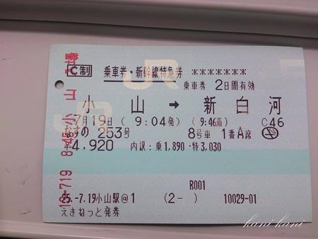 東北新幹線 なすの チケット
