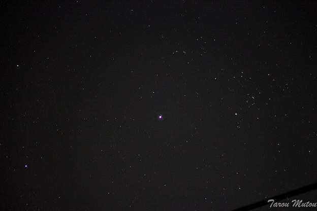 木星とヒアデス星団(牡牛座)