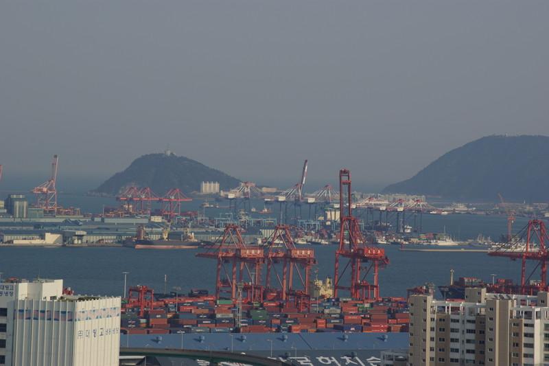 釜山港を見渡す台地に築城された釜山倭城からは子城台倭城や東三洞倭城もよく見える
