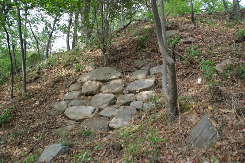 蔚山倭城に残る石垣2