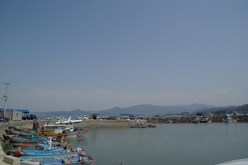 南海倭城は小さな漁村にある