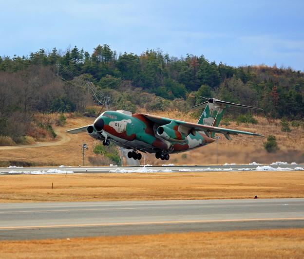C-1 (輸送機)、岡山空港飛来 ☆