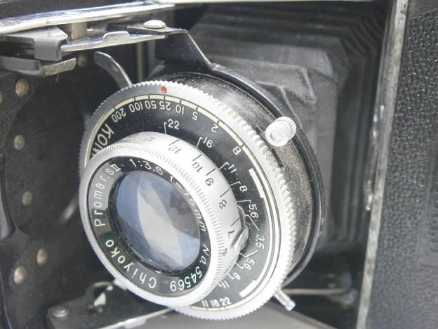 ★オキュパイド★ミノルタ120★折り畳み式蛇腹カメラ 75mm