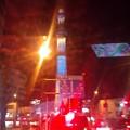 写真: スカイツリーがブルーに光っております。