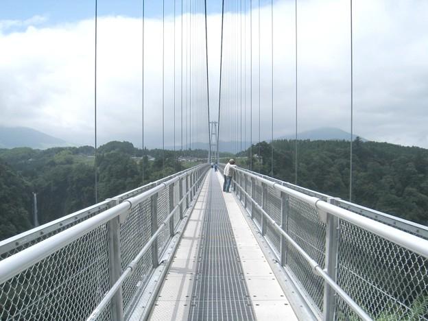 九重 夢大吊橋12 幅1.5mワイヤーの壁