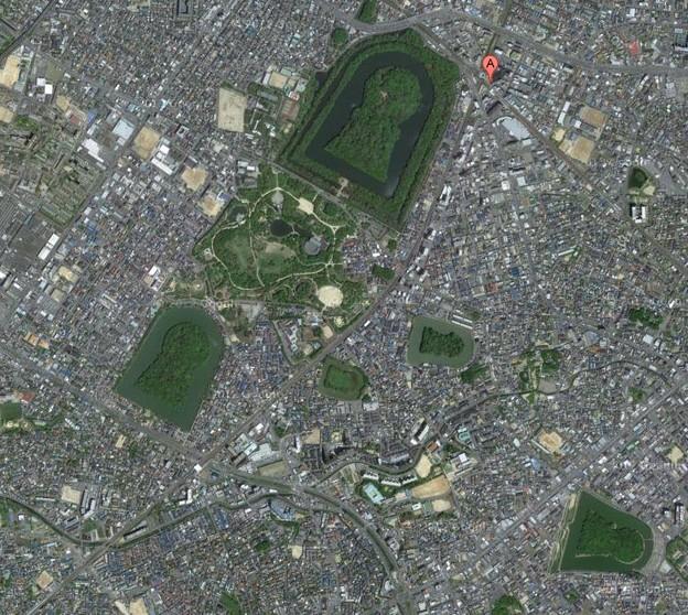 写真: 大仙陵古墳 地図