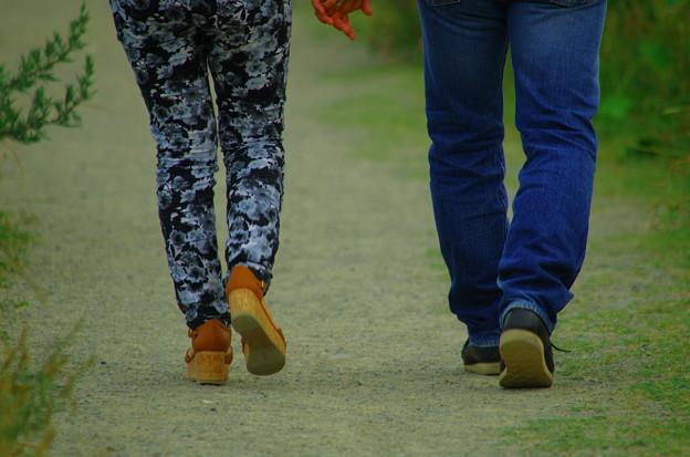 きれいな歩きかた。