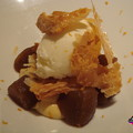 Photos: シナモンのブリュレ・クレームとリンゴのタタン、柚子のアイスクリーム